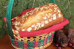 Loaf of Christmas Bread Stock Image