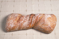 Loaf ciabatta bread Royalty Free Stock Images