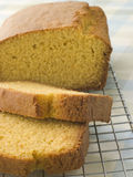 Loaf of Corn Bread on a Cooling rack stock images
