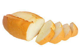 Loaf, cut into slices Stock Photo