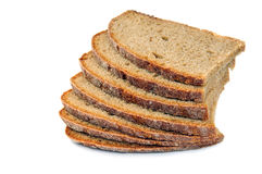 Loaf of dark bread Stock Images