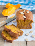 Loaf of fresh baked homemade pumpkin bread Stock Photo