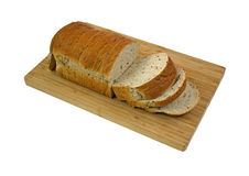 Seeded Rye Bread  on Cutting Board Royalty Free Stock Images