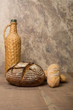 Loaf of fresh rye bread on a table Stock Photography