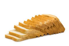 Loaf of fresh sliced bread. Isolated on white background Royalty Free Stock Image