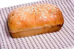 Loaf of fresh sunflower seed bread Royalty Free Stock Photography