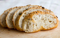 Bread. A loaf of full-grained bread stock image