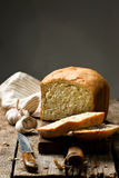 The loaf of garlic bread .style rustic Royalty Free Stock Photo