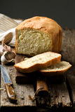 The loaf of garlic bread .style rustic Stock Photo