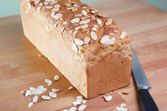 Loaf of gluten-free almond bread Royalty Free Stock Image