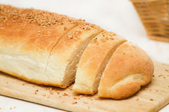 Loaf of home made bread Stock Images