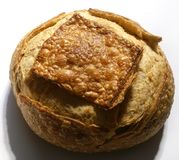 A loaf of home made Bread. Directions stock photography