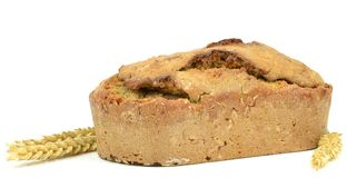 A loaf of home made brown bread Stock Photos