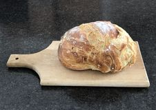 Loaf of homemade bread on a cutting board Stock Image