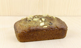 Loaf of homemade nut bread Stock Image