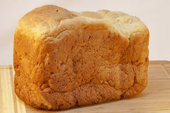 Loaf of homemade white bread Royalty Free Stock Photos