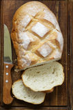 Loaf of homemade white bread Royalty Free Stock Photo