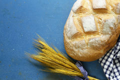 Loaf of homemade white bread Stock Images