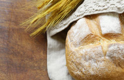 Loaf of homemade white bread Royalty Free Stock Photography