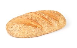 Loaf of long bread with grains Royalty Free Stock Images