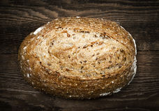 Loaf of multigrain artisan bread Stock Photo