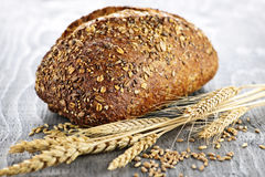 Loaf of multigrain bread Royalty Free Stock Photos