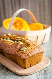 Loaf of pumpkin bread Stock Photography