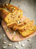 Loaf of pumpkin bread Royalty Free Stock Photos