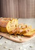 Loaf of pumpkin bread Stock Images