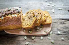 Loaf of pumpkin bread Royalty Free Stock Photo