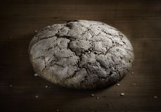Loaf of rye bread on board Stock Photo