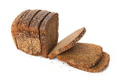 Loaf of rye bread. Isolated on white background royalty free stock photography