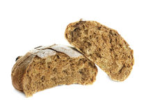 Loaf of rye bread isolated on white Stock Photography