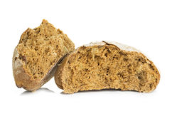 Loaf of rye bread isolated on white Royalty Free Stock Photography