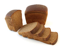 Loaf of rye bread and sliced stock photography