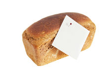 Loaf of rye bread with sticker Royalty Free Stock Images