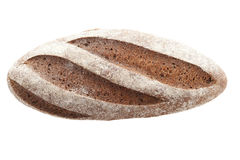 Loaf of rye bread on a white background isolate Stock Image