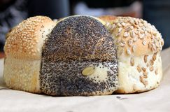 Loaf of Seeded speicality bread Royalty Free Stock Photography