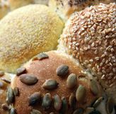 Loaf of Seeded speicality bread Stock Photo