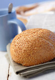 Loaf with sesame Stock Photo