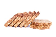 Loaf of sesame bread Stock Photos