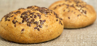 Loaf with sesame Royalty Free Stock Photo