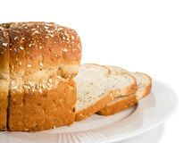 Loaf of sliced bread on plate. Stock Photography