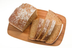 Loaf of sliced soda bread on a bamboo board Stock Image