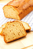 Slices of handmade banana bread Stock Image