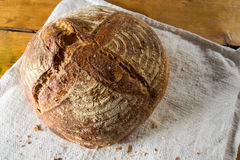Loaf of sourdough bread Royalty Free Stock Images