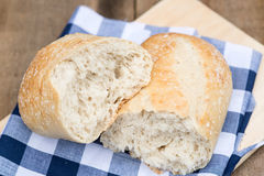 Loaf of sourdough bread in rustic kitchend setting Royalty Free Stock Photo