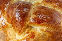 Loaf of sweet braided bread close up Stock Photos