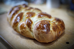 Loaf of sweet braided bread Royalty Free Stock Images