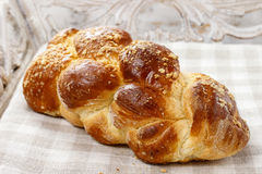 Loaf of sweet bread. Festive and party dessert royalty free stock photos